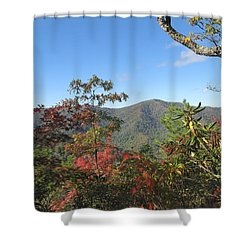 Autumn Smoky Mountains Shower Curtain by Melinda Fawver