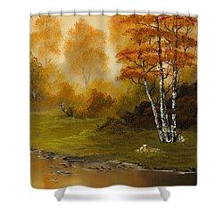 Autumn Splendor Shower Curtain by C Steele