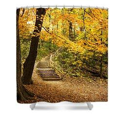 Autumn Stairs Shower Curtain by Scott Norris
