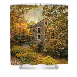 Autumn Stone Mill Shower Curtain by Jessica Jenney