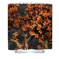 Autumn Storm Shower Curtain by Cynthia Decker