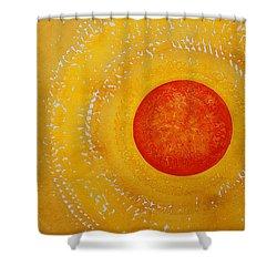 Autumn Sun Original Painting Shower Curtain by Sol Luckman