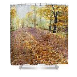 Autumn Sunday Morning Shower Curtain