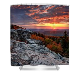 Shower Curtain featuring the photograph Autumn Sunrise At Dolly Sods by Jaki Miller