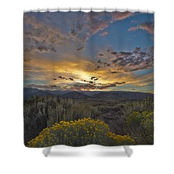 Autumn Sunset Shower Curtain by Dianne Phelps