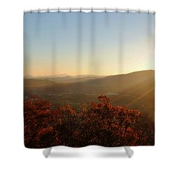 Shower Curtain featuring the photograph Autumn Sunset by Kelly Nowak