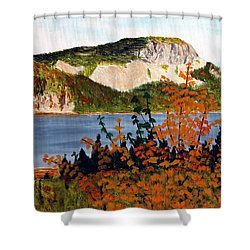 Shower Curtain featuring the painting Autumn Sunset On The Hills by Barbara Griffin