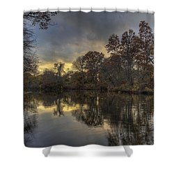 Autumn Sunset On West Brook Pond Shower Curtain