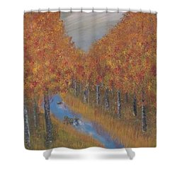 Autumn Shower Curtain by Tim Townsend