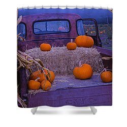 Autumn Truck Shower Curtain by Garry Gay