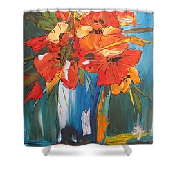 Autumn Vase Shower Curtain