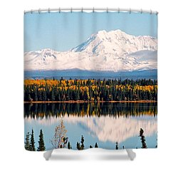 Autumn View Of Mt. Drum - Alaska Shower Curtain