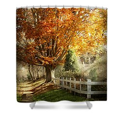 Autumn - Westfield Nj - I Love Autumn Shower Curtain by Mike Savad