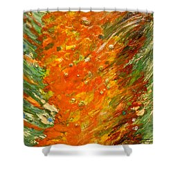 Shower Curtain featuring the painting Autumn Wind by Joan Reese