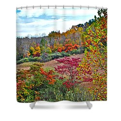 Autumnal Vista Shower Curtain by Frozen in Time Fine Art Photography