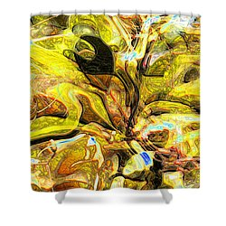 Autumn's Bones Shower Curtain by Richard Thomas