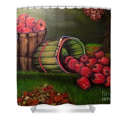 Shower Curtain featuring the painting Autumn's Bounty In The Volunteer State by Kimberlee Baxter