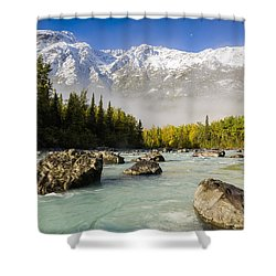 Autumns Colors Contrast With Winters Shower Curtain by Ray Bulson