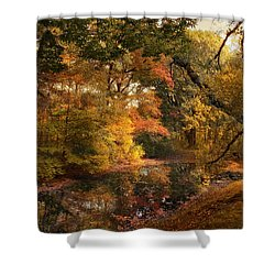 Shower Curtain featuring the photograph Autumn's Edge by Jessica Jenney