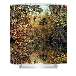 Autumn's Mirror Shower Curtain by Jessica Jenney