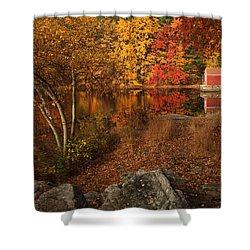 Autumns Path Shower Curtain by Karol Livote