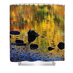 Autumns Rainbow Shower Curtain by Karol Livote
