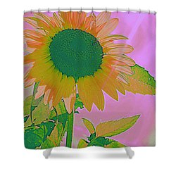 Autumn's Sunflower Pop Art Shower Curtain
