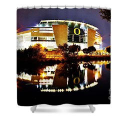 Autzen At Night Shower Curtain