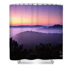 Auxier Ridge Dawn - Fm000023 Shower Curtain by Daniel Dempster