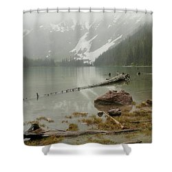 Avalanche Glacier National Park Shower Curtain by Jeff Swan