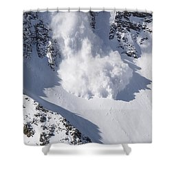 Avalanche II Shower Curtain