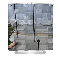 Avalon Fog Shower Curtain