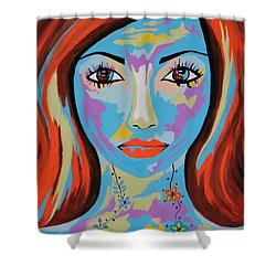 Avani - Contemporary Woman Art Shower Curtain