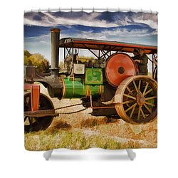 Aveling Porter Road Roller Shower Curtain