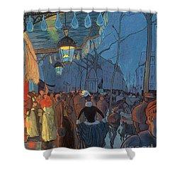 Avenue De Clichy Paris Shower Curtain by Louis Anquetin