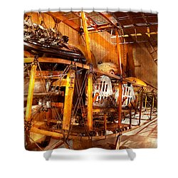 Aviation - Early Days Of Aviation Shower Curtain by Mike Savad
