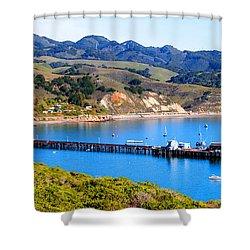 Avila Beach California Fishing Pier Shower Curtain