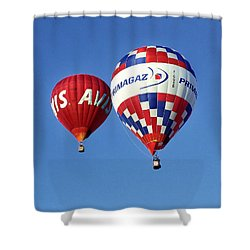 Avis Balloon Shower Curtain by John Swartz