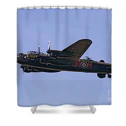 Avro 638 Lancaster At The Royal International Air Tattoo Shower Curtain by Paul Fearn