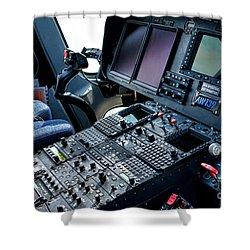 Aw139 Cockpit Shower Curtain