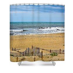 Awaiting The Storm - Sandbridge Virginia Shower Curtain