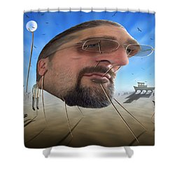 Awake . . A Sad Existence Shower Curtain by Mike McGlothlen