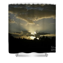 Awakening Shower Curtain by Bev Conover