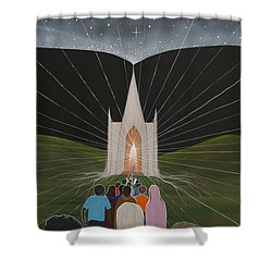 Awakening Shower Curtain by Tim Mullaney