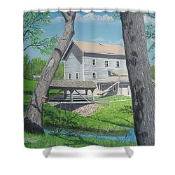 Award-winning Painting Of Beckman's Mill Shower Curtain by Norm Starks