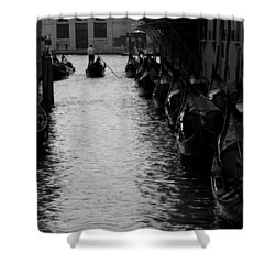 Away - Venice Shower Curtain by Lisa Parrish