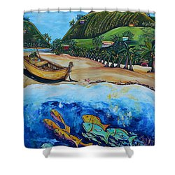 Away With The Fishes Shower Curtain