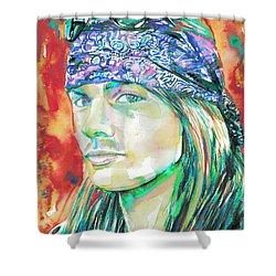 Axl Rose Portrait.2 Shower Curtain