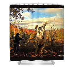 Ay Caramba Shower Curtain by Patricia Keller