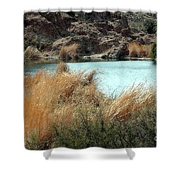 Ayer Lake Shower Curtain by Kathleen Struckle